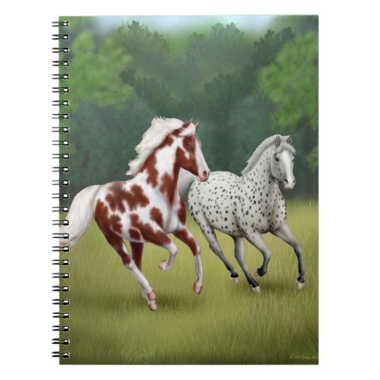 Galloping Wild Horses Notebook
