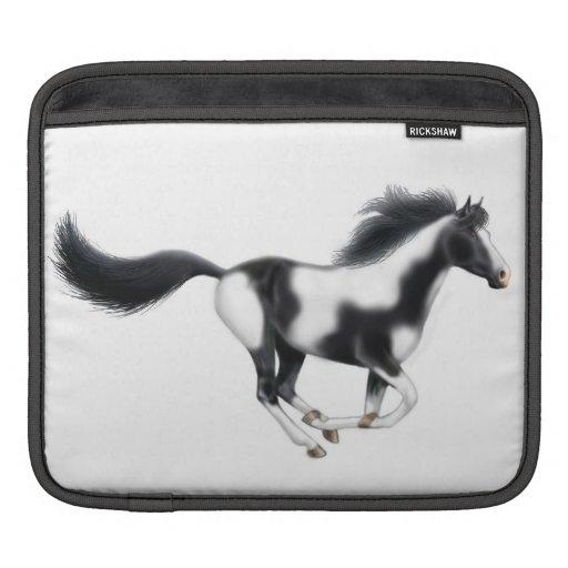 Galloping Wild Paint Horse Rickshaw Sleeve iPad Sleeves