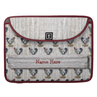 Gallos atados plata Barnboards de Wyandotte Funda Para Macbook Pro