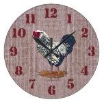Gallos atados plata Barnboards de Wyandotte Relojes