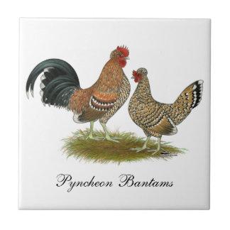 Gallos de Pyncheon Azulejo Cuadrado Pequeño