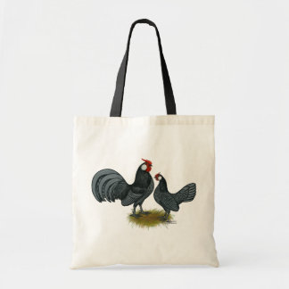 Gallos del azul de Rosecomb Bolsas