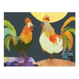 Gallos hermosos postales