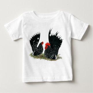 Gallos japoneses abigarrados playera de bebé
