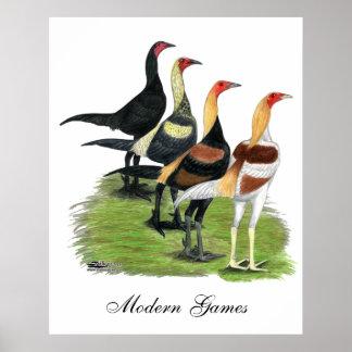 Gallos modernos del juego posters