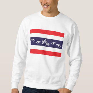 Gallos que luchan la bandera tailandesa suéter