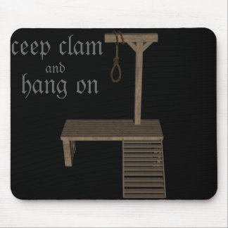 gallow and quotes mouse pad