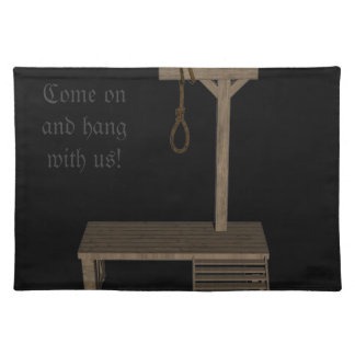 gallow and quotes place mat