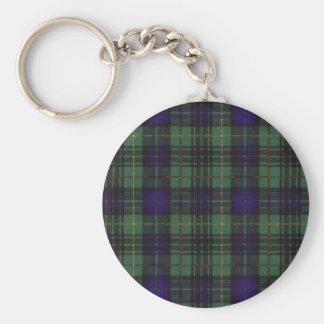 Galloway clan Plaid Scottish kilt tartan Basic Round Button Keychain