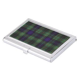 Galloway clan Plaid Scottish kilt tartan Business Card Holder