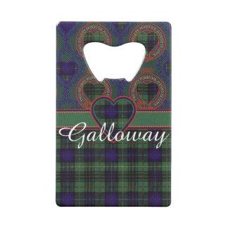 Galloway clan Plaid Scottish kilt tartan Credit Card Bottle Opener