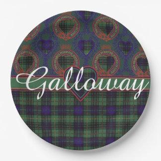 Galloway clan Plaid Scottish kilt tartan Paper Plate