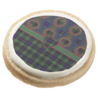 Galloway clan Plaid Scottish kilt tartan Round Shortbread Cookie