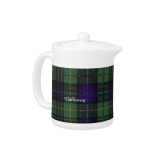 Galloway clan Plaid Scottish kilt tartan Teapot