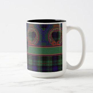 Galloway clan Plaid Scottish kilt tartan Two-Tone Coffee Mug