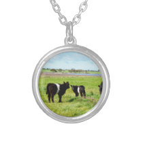 Galloway Cow Country, Silver Plated Necklace