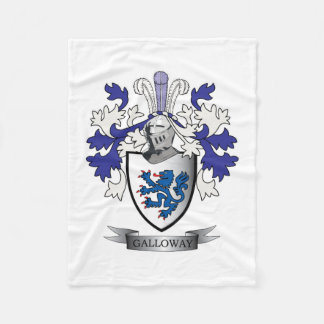 Galloway Family Crest Coat of Arms Fleece Blanket