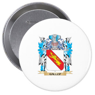 Gallup Coat of Arms - Family Crest Pinback Buttons