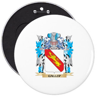 Gallup Coat of Arms - Family Crest Pinback Button