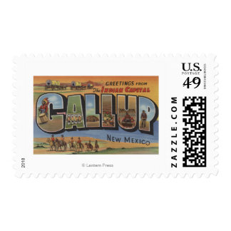 Gallup, New Mexico - Large Letter Scenes 2 Postage
