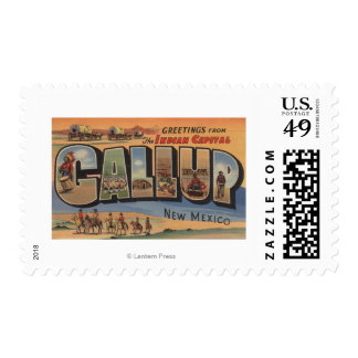 Gallup, New Mexico - Large Letter Scenes Postage