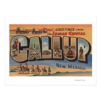 Gallup, New Mexico - Large Letter Scenes Postcard