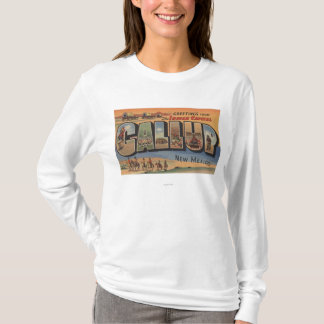 Gallup, New Mexico - Large Letter Scenes T-Shirt