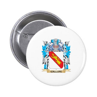 Gallupe Coat of Arms - Family Crest Pinback Buttons