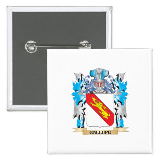 Gallupe Coat of Arms - Family Crest Buttons