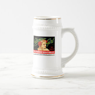 Galmour Girl California Vegetables Beer Stein