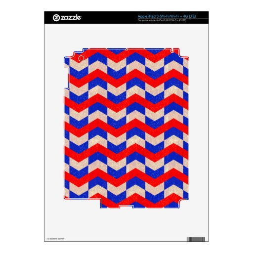 Galón azul rojo pegatina skin para iPad 3