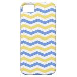 Galón azul y amarillo de moda, moderno, elegante iPhone 5 Case-Mate coberturas