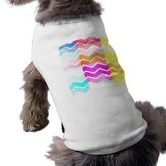 Galón blanco en pasteles creativos de las gotitas camisas de perritos