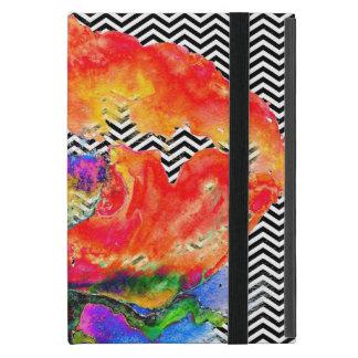 Galón blanco y negro de la amapola roja iPad mini coberturas