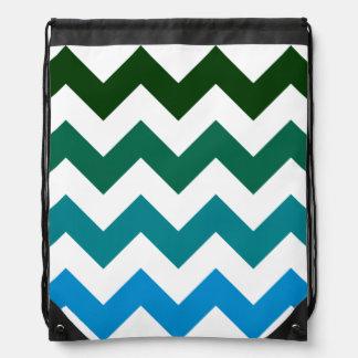 galón de verde al azul mochilas