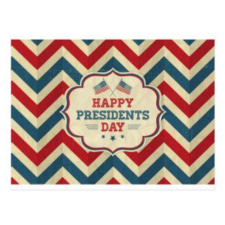 galón del día de los presidentes tarjeta postal