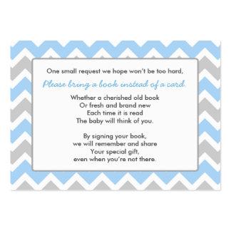 Galón del gris azul del muchacho de la tarjeta del tarjetas de visita grandes