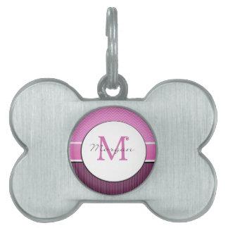 Galón del monograma de Morgan y negro rosado de la Placa Mascota