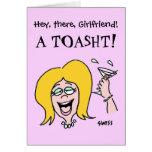 Galón divertido cumpleaños del dibujo animado del tarjeta