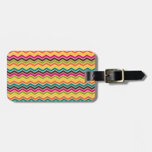 Galón femenino multicolor etiqueta para maleta