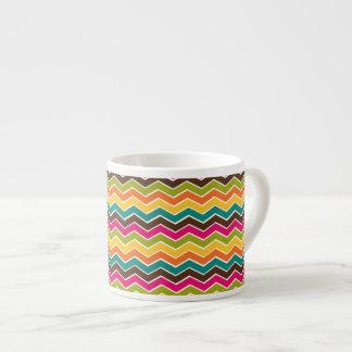 Galón femenino multicolor tazitas espresso