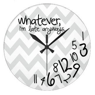 galón gris y blanco lo que - reloj redondo grande