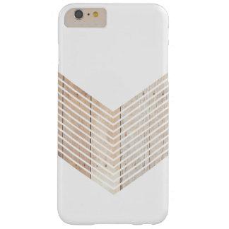 Galón minimalista blanco con madera funda de iPhone 6 plus barely there