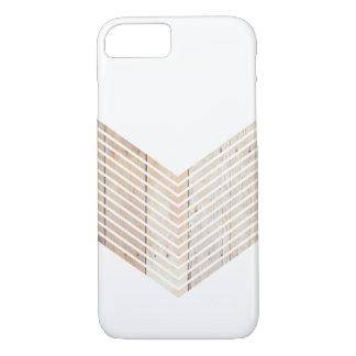 Galón minimalista blanco con madera funda iPhone 7