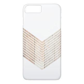 Galón minimalista blanco con madera funda iPhone 7 plus
