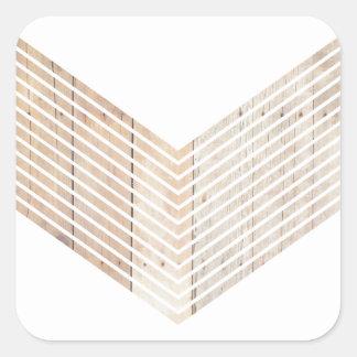 Galón minimalista blanco con madera pegatina cuadrada