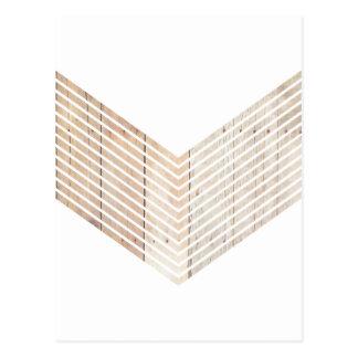 Galón minimalista blanco con madera tarjetas postales
