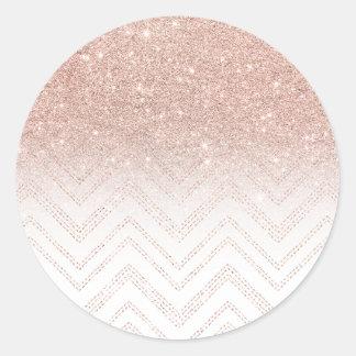 Galón moderno del falso del oro ombre color de pegatina redonda