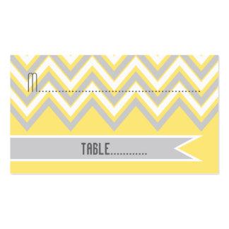 Galón moderno gris, tarjeta amarilla del lugar del tarjetas de visita
