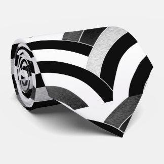 galón negro/blanco curvado moderno sofisticado corbata personalizada